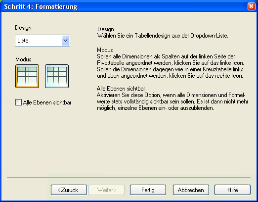Assistent für Quick-Diagramme ‒ QlikView
