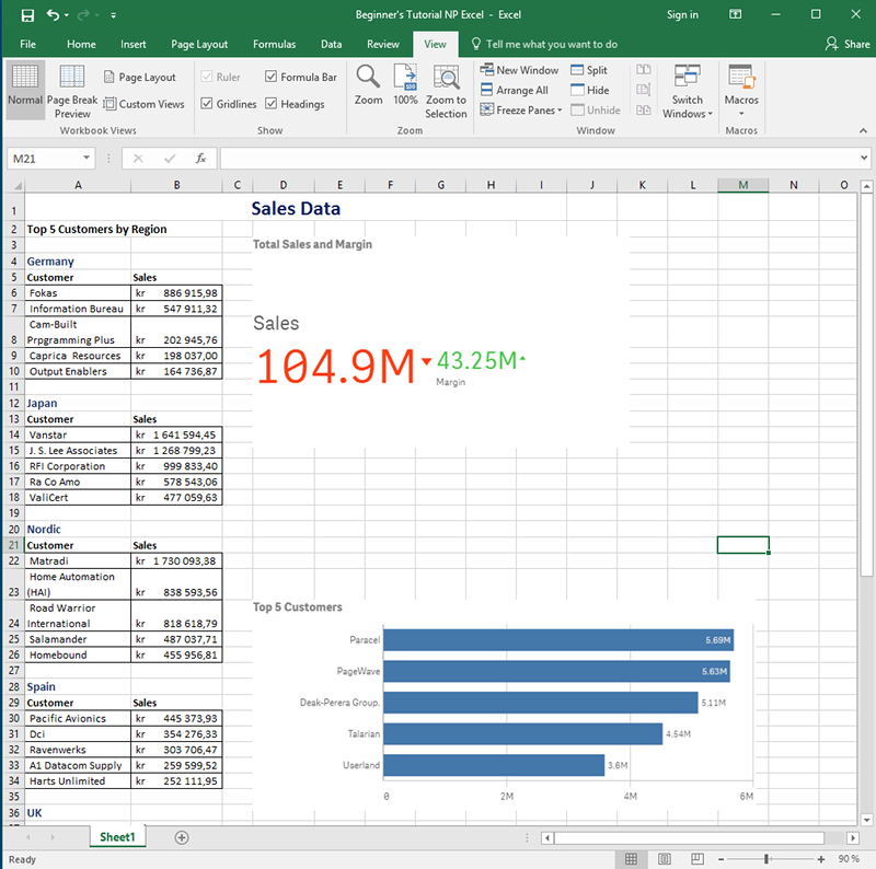Publishing a simple report from a Qlik Sense app ‒ Qlik
