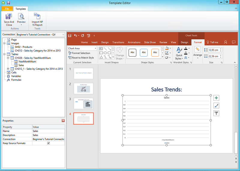 Publishing a simple report from a QlikView document ‒ Qlik
