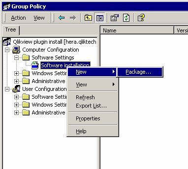 Deploying MSI Packages with Group Policies ‒ QlikView