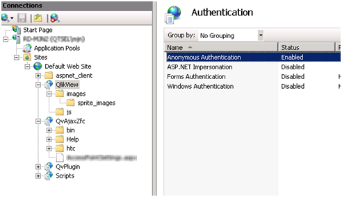 Configuring IIS for Custom Users ‒ QlikView