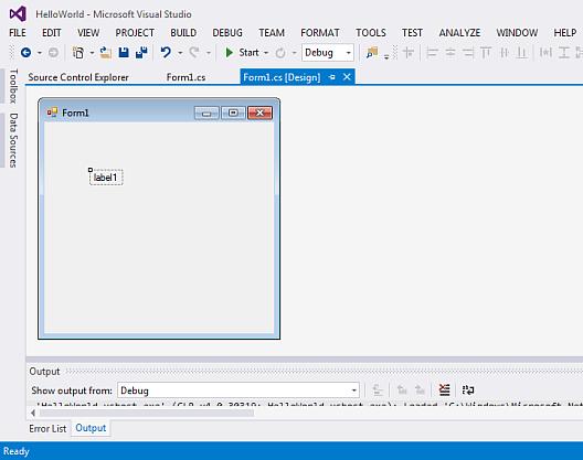 Creating a basic Visual Basic Windows Forms application