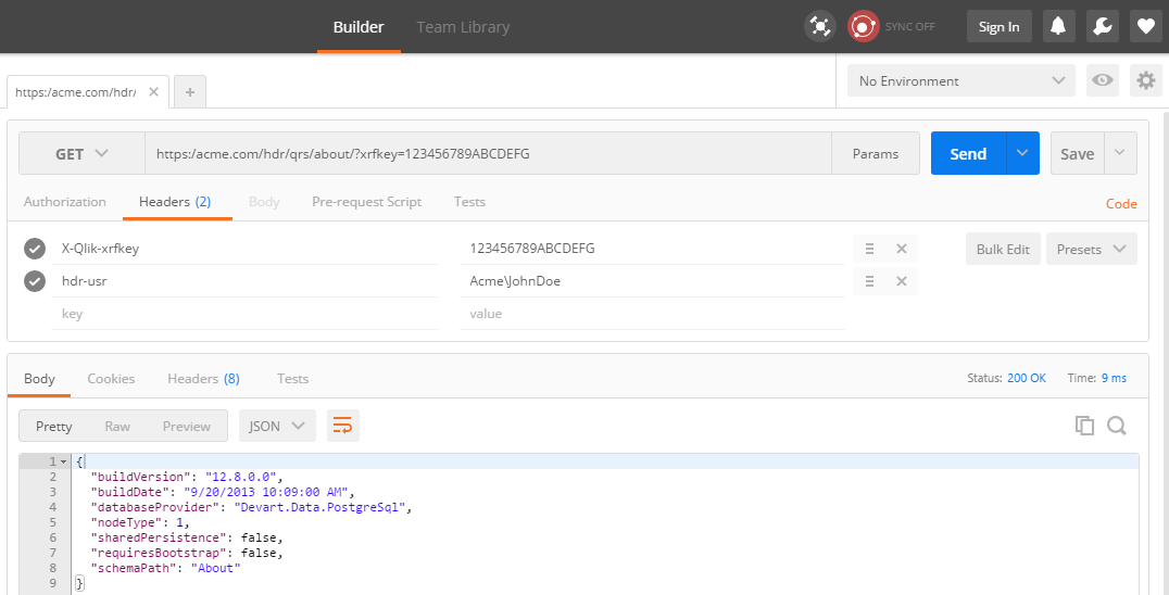 example configuring header authentication qlik sense developers