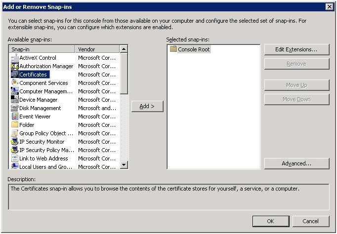 Restoring certificates ‒ Qlik Sense