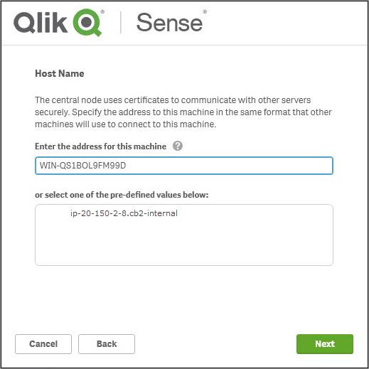 Install Qlik Sense November 2018